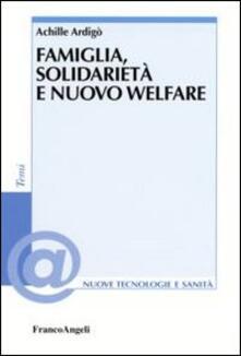 Famiglia, solidarietà e nuovo welfare