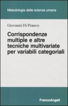 Promoartpalermo.it Corrispondenze multiple e altre tecniche multivariate per variabili categoriali Image