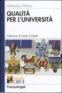 Qualità per l'università