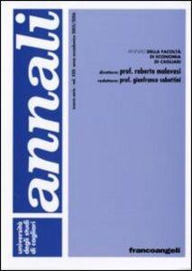 Libro Annali della Facoltà di economia di Cagliari. Vol. 22: Anno accademico 2005-2006.