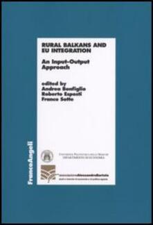 Rural Balkans and EU integration. An input-output approach - copertina