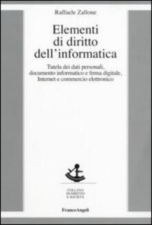 Elementi di diritto dell'informatica - Raffaele Zallone - copertina