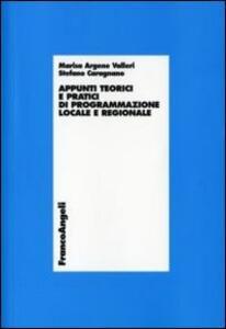 Appunti teorici e pratici di programmazione locale e regionale