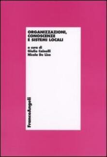 Organizzazioni, conoscenze e sistemi locali - copertina