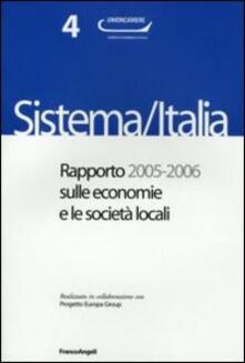 Sistema/Italia. Rapporto 2005-2006 sulle economie e le società locali - copertina
