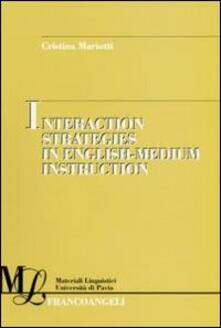 Interaction strategies in English-medium instruction - Cristina Mariotti - copertina