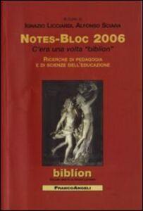 Libro Notes-bloc 2006
