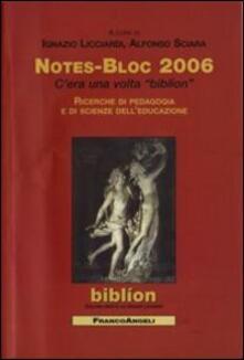 Notes-bloc 2006 - copertina