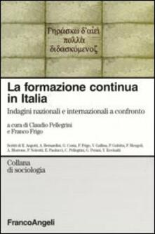 La formazione continua in Italia. Indagini nazionali e internazionali a confronto - copertina