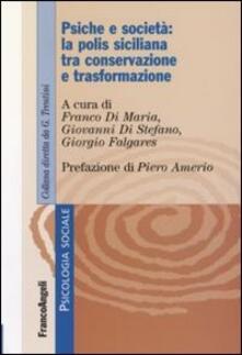 Psiche e società: la polis siciliana tra conservazione e trasformazione - copertina