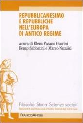 Repubblicanesimo e repubbliche nell'Europa di antico regime