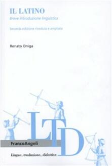 Il latino. Breve introduzione linguistica.pdf