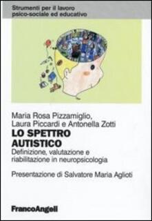 Lo spettro autistico. Definizione, valutazione e riabilitazione in neuropsicologia - M. Rosa Pizzamiglio,Laura Piccardi,Antonella Zotti - copertina