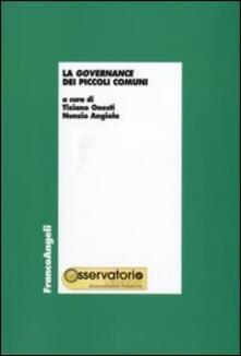 La governance dei piccoli comuni - copertina