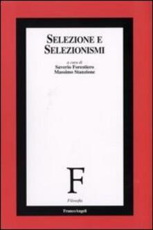 Selezione e selezionismi - copertina