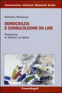 Libro Democrazia e consultazione on line Marilena Macaluso