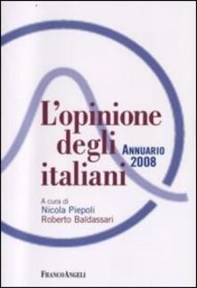 L' opinione degli italiani. Annuario 2008 - copertina