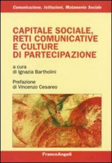 Capitale sociale, reti comunicative e culture di partecipazione - copertina