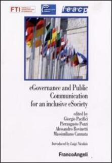 E-governance and public comunication for a inclusive e-society - copertina