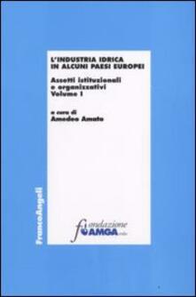 L' industria idrica in alcuni paesi europei. Assetti istituzionali e organizzativi. Vol. 1 - copertina