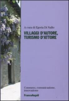 Villaggi d'autore, turismo d'attore - copertina