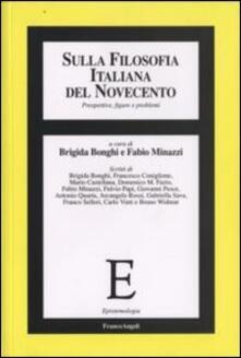 Sulla filosofia italiana del Novecento. Prospettive, figure e problemi - copertina