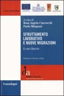 Sfruttamento lavorativo e nuove migrazioni. Il caso Marche - copertina
