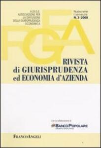 Rivista di giurisprudenza ed economia d'azienda (2008). Vol. 3