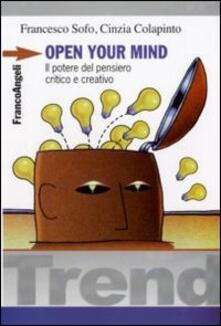 Camfeed.it Open your mind. Il potere del pensiero critico e creativo Image