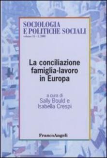 La conciliazione famiglia-lavoro in Europa - copertina