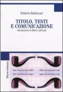 Titolo, testi e comunicazione