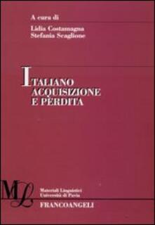 Italiano acquisizione e perdita - copertina