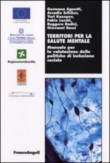 Territori per la salute mentale. Manuale per la valutazione delle politiche di inclusione sociale - copertina