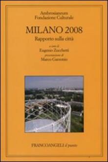 Milano 2008. Rapporto sulla città - copertina
