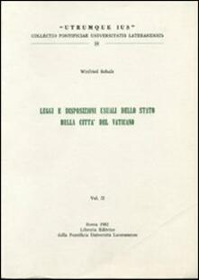 Criticalwinenotav.it Legge e disposizioni usuali dello stato della Città del Vaticano. Vol. 2 Image