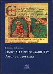 Limiti alla responsabilità? Amore e giustizia - Livio Melina,Daniel Granada - copertina