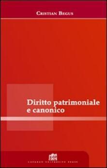Diritto patrimoniale canonico - Cristian Begus - copertina