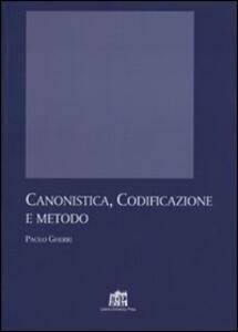 Canonistica, codificazione e metodo