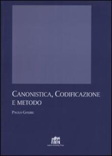 Canonistica, codificazione e metodo - Paolo Gherri - copertina