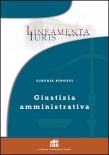 Giustizia amministrativa - Cinthia Pinotti - copertina