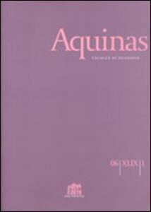 Aquinas. Rivista internazionale di filosofia (2009). Vol. 3