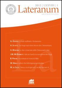 Lateranum (2012). Vol. 1