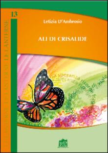 Ali di crisalide - Letizia D'Ambrosio - copertina