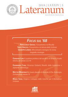 Lateranum (2018). Vol. 3: Focus sul '68. - copertina