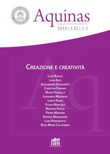 Aquinas. Rivista internazionale di filosofia (2018). Vol. 1-2: Creazione e creatività. - copertina