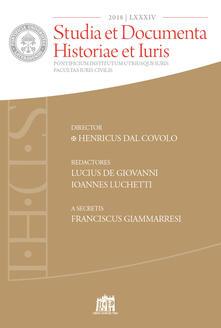 Capturtokyoedition.it Studia et documenta historiae et iuris (2018). Vol. 84 Image