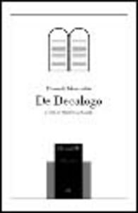 Libro De decalogo Filone di Alessandria