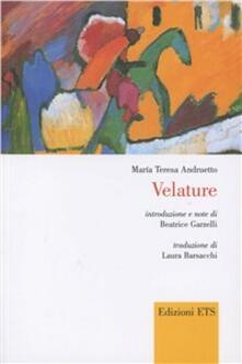 Velature. Testo spagnolo a fronte - Maria Teresa Andruetto - copertina