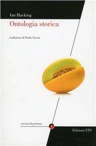 Libro Ontologia storica Ian Hacking