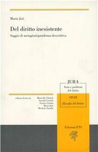 Libro Del diritto inesistente Mario Jori